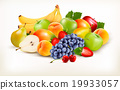 Fresh juicy fruit and berries i 19933057
