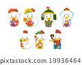雞年 矢量 新年賀卡材料 19936464