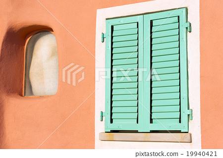 Detail of Window - Liguria Italy 19940421