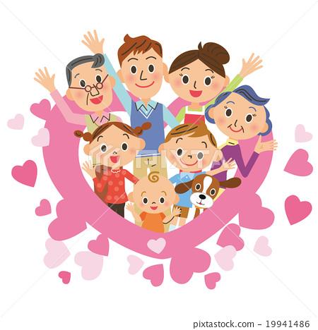 心脏和三代家庭 19941486