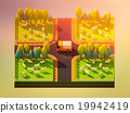 Sheep in the landscape, isometric view 19942419