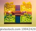 Sheep in the landscape, isometric view 19942420
