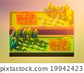 Sheep in the landscape, isometric view 19942423