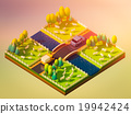 Sheep in the landscape, isometric view 19942424