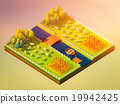 Sheep in the landscape, isometric view 19942425