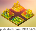 Sheep in the landscape, isometric view 19942426