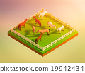 animals in the landscape, isometric view 19942434
