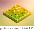 animals in the landscape, isometric view 19942435