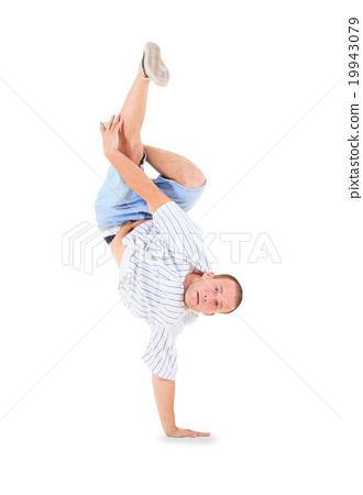 Teenager dancing breakdance in action 19943079