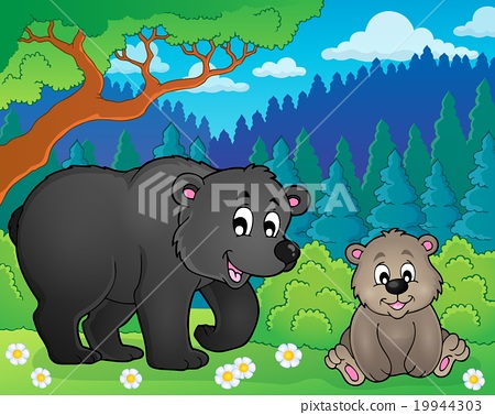 Bears in nature theme image 2 19944303
