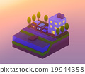 isometric city buildings, landscape 19944358