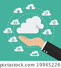 Hand with cloud computing technology concept 19945226