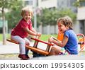 Children having fun at playground 19954305
