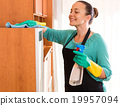 Woman cleaning at the office 19957094