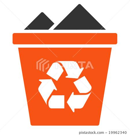 Full Recycle Bin Icon Stock Illustration 19962340 Pixta