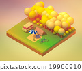 isometric forest camping 19966910