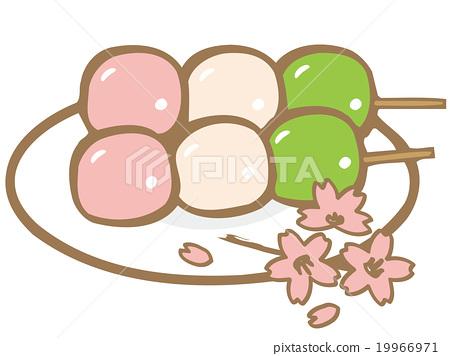 三色饺子 矢量 食物 19966971
