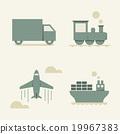 cargo transportation - vector illustration 19967383
