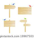 广告牌 告示牌 小鸟 19967503