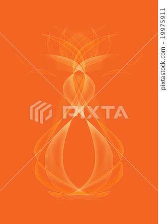 Abstract Orange Background illustration 19975911