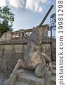 Unicorn statue in Mirabell Gardens. Salzburg. 19981298