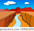 Grand Canyon in origami style, vector 19982009
