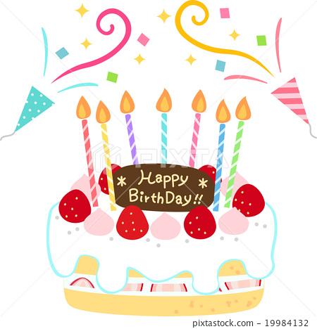 生日慶祝裝飾蛋糕 19984132