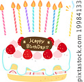生日 蛋糕 蜡烛 19984133