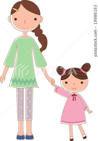 成熟的女人 一個年輕成年女性 女生 19986163