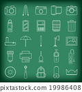 Camera and accessories icons set vector 19986408