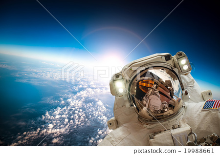 Astronaut in outer space 19988661