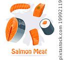 Salmon meat 19992119