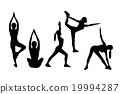 Yoga woman silhouette 19994287