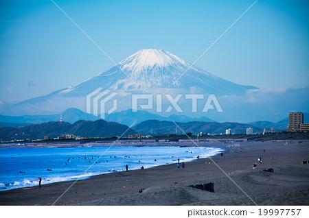從湘南看到的富士山 19997757