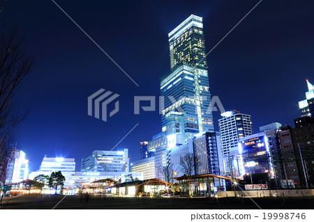 덴노지 공원에서 아베노바시 터미널 빌딩의 야경 19998746