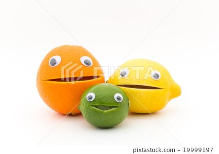 Citrus fruits with eye balls: wiggly-eyed citrus fruit 19999197