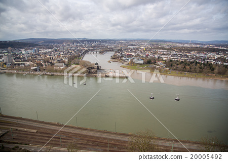 Germany Join the Koblenz River and the Moselle river 20005492