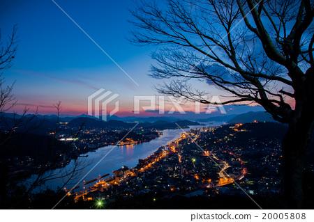 尾道的晚上風景 20005808
