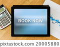 book now word on digital tablet 20005880