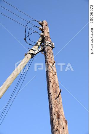 在昭和初期的舊木電線桿 20006672