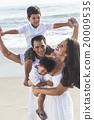 Mother Father Parents Boy Children Family Beach 20009535