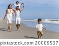 Mother Father Parents Boy Children Family Beach 20009537