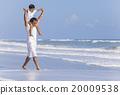 Father Parent Boy Child Family Beach Fun 20009538