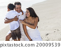 Mother Father Parents Boy Child Family Beach Fun 20009539