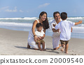 Mother Father Parents Boy Child Family Beach Fun 20009540