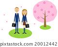 입학식 이미지 벚꽃 나무 (남자 고교생 여고생) 20012442
