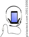 Mobile phone and headphones 20013006