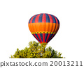 hot air balloon isolated on white background 20013211