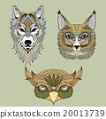 兽 详尽的 狐狸 20013739