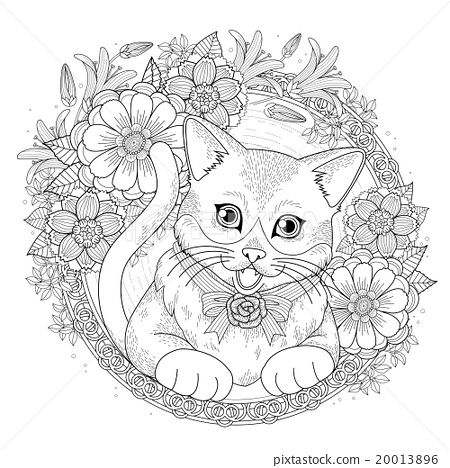 Cat Coloring Pages – coloring.rocks! | 468x450